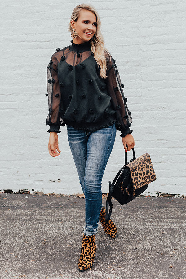 Bold Ambition Top In Black