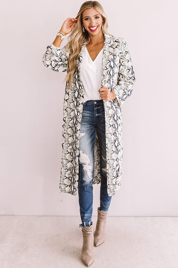 The High Society Snake Print Lightweight Coat