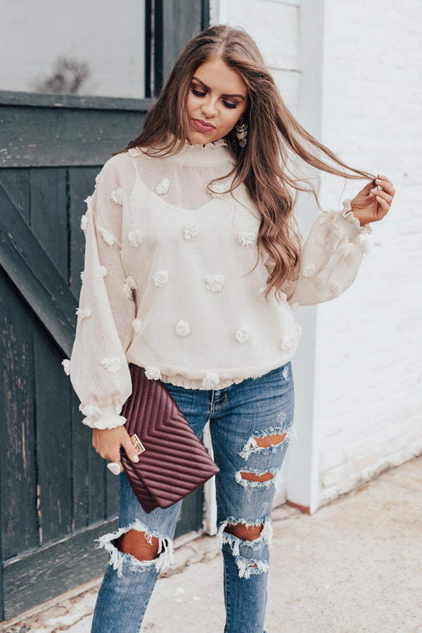 Bold Ambition Top In Cream