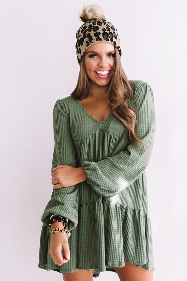 Skip To The Beat Babydoll Top in Olive