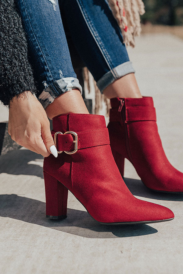 The Emmaline Bootie In Wine