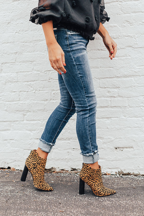The Kendra Ankle Bootie In Leopard