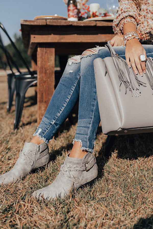 The Phoebe Bootie In Grey