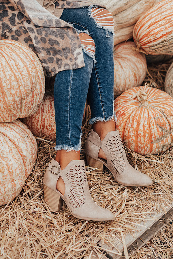 The Ronan Bootie In Taupe
