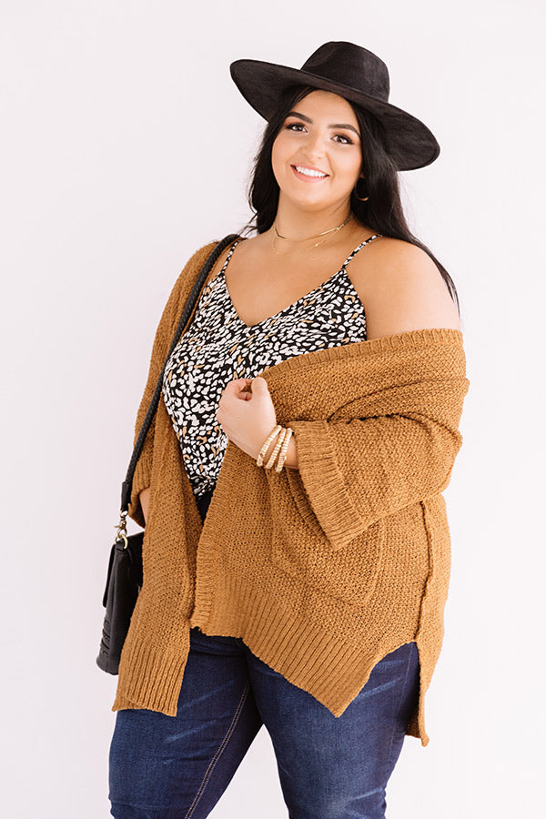 Weekend Out West Knit Cardigan in Copper