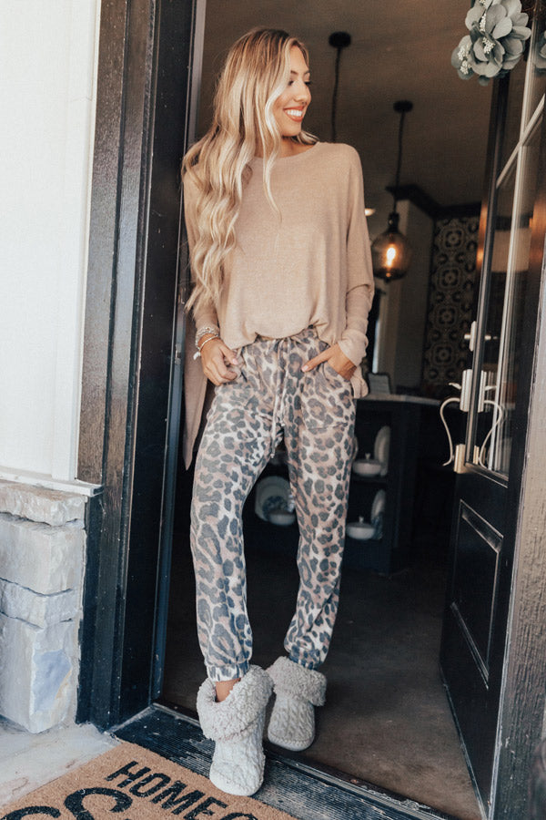 Lounging In London Leopard Jogger