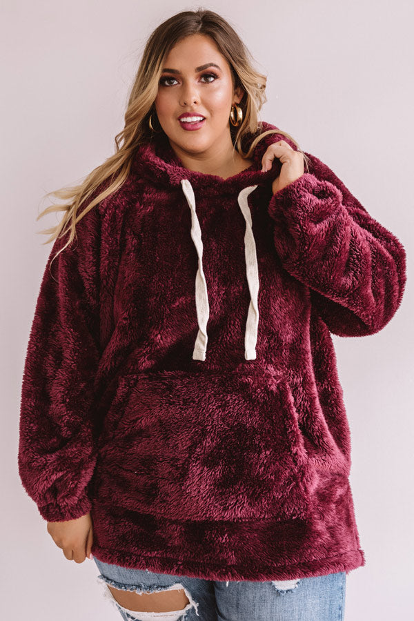 Simply Burr-fection Teddy Hoodie in Windsor Wine