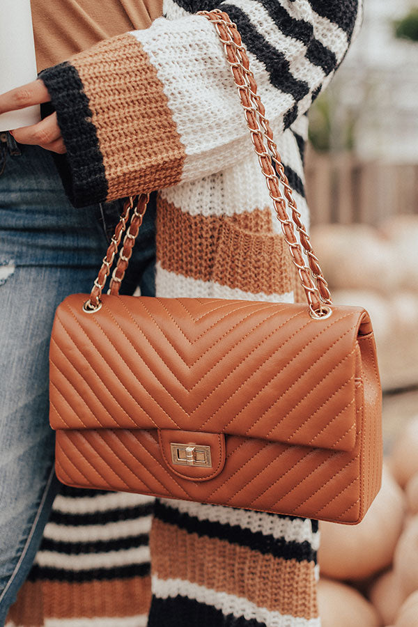 Glamour Girl Quilted Tote in Maple