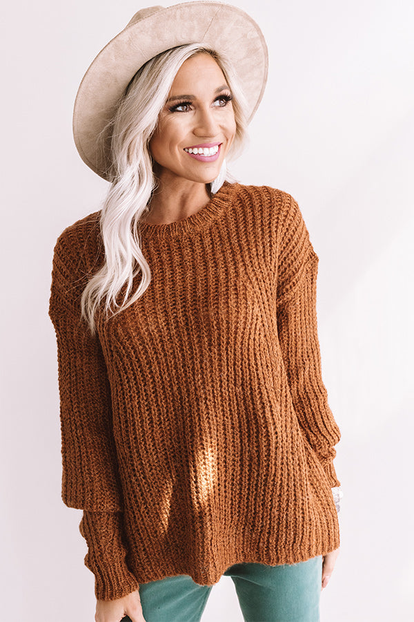 Ski Lift Lifestyle Knit Sweater In Cinnamon