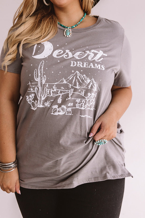 Desert Dreams Shift Tee In Grey