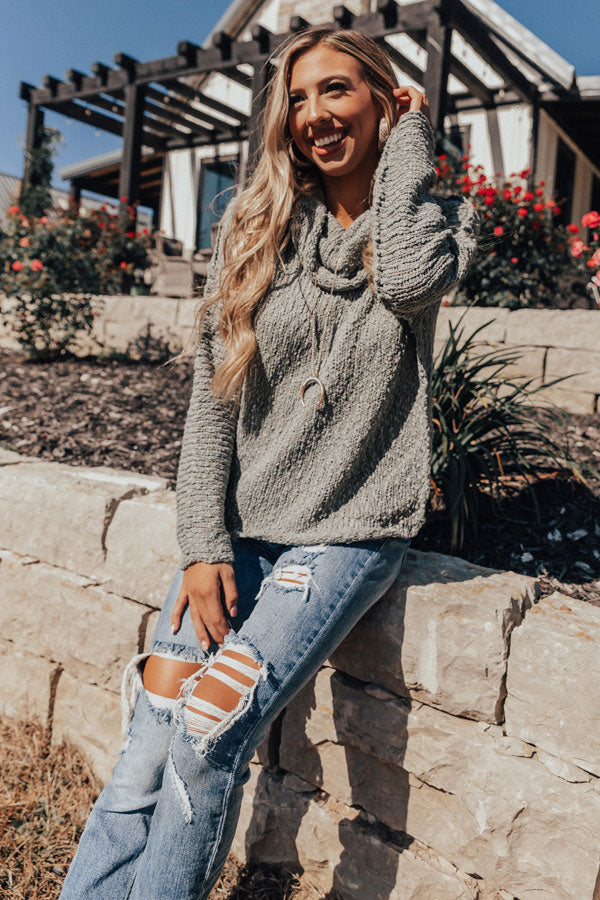Misty Morning Knit Sweater in Pear