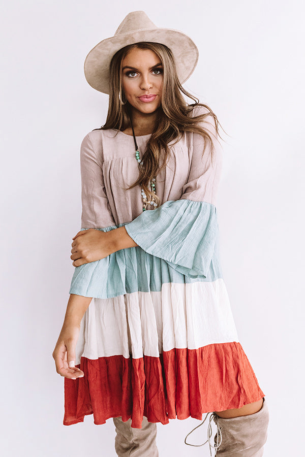 Beaming Brilliance Babydoll Dress