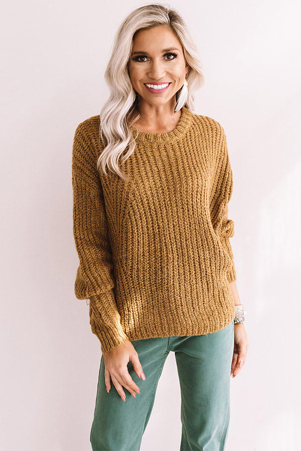 Ski Lift Lifestyle Knit Sweater In Mustard