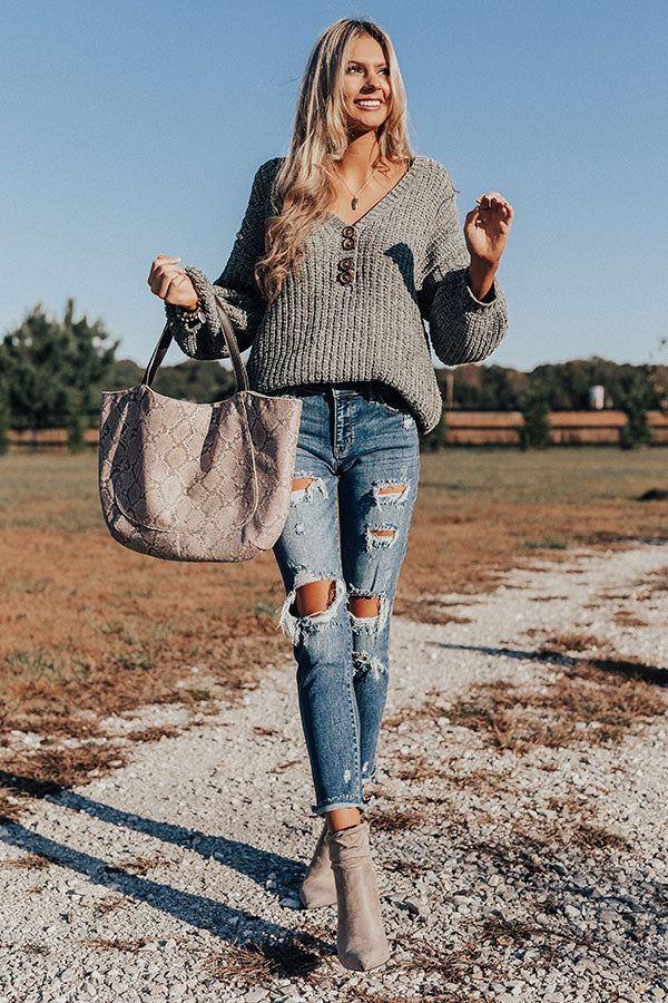Chill Weekend Chenille Sweater In Sage