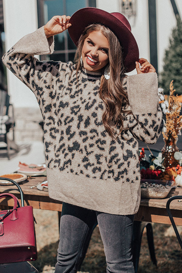Sharing Warmth Leopard Sweater