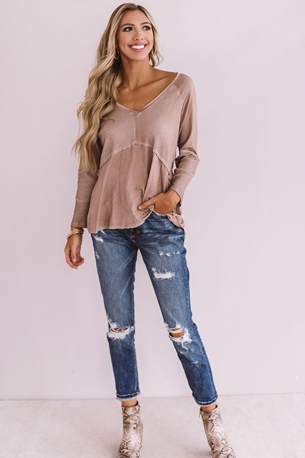 East Avenue Babydoll Top In Blush