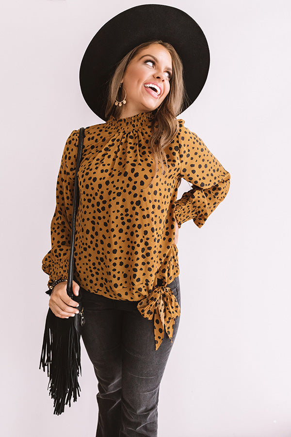 Cider And Chic Leopard Shift Top