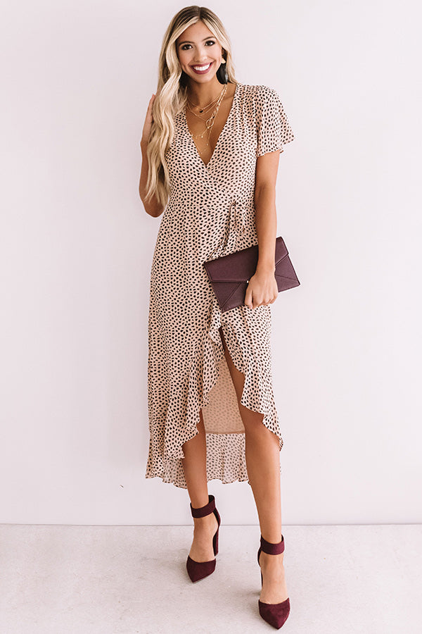 Call Of The Wild Leopard Wrap Dress
