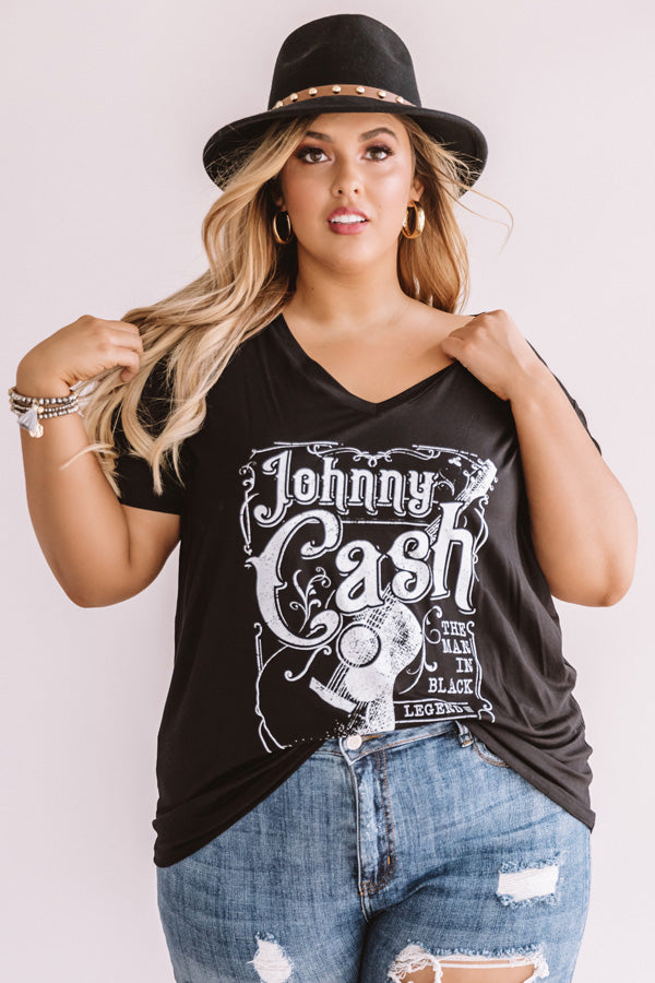 Johnny Cash Shift Tee In Black