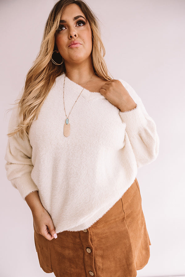 It's All The Rage Ultra Soft Sweater In Cream