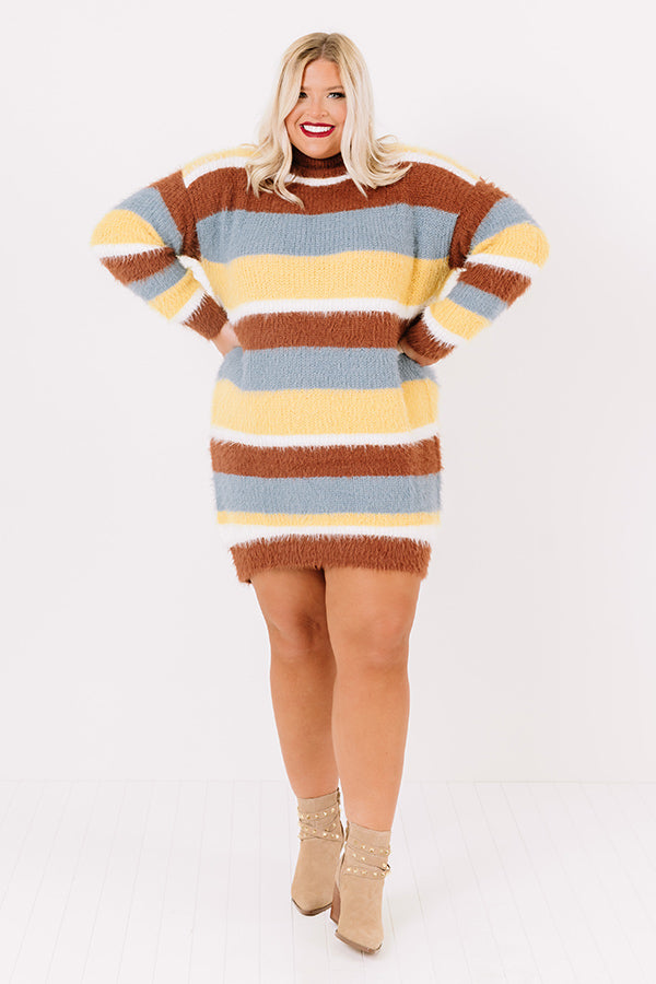Winter Escape Stripe Sweater Dress