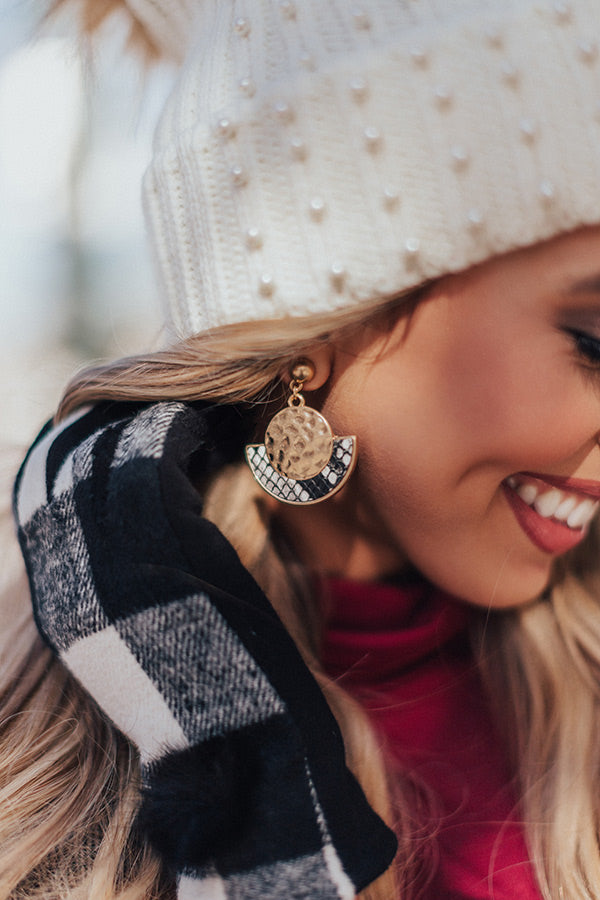 Adorable Details Snake Print Earrings