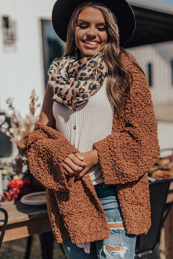 Must Be Manhattan Infinity Leopard Scarf