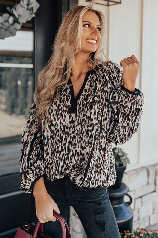 Mindful Moment Leopard Top