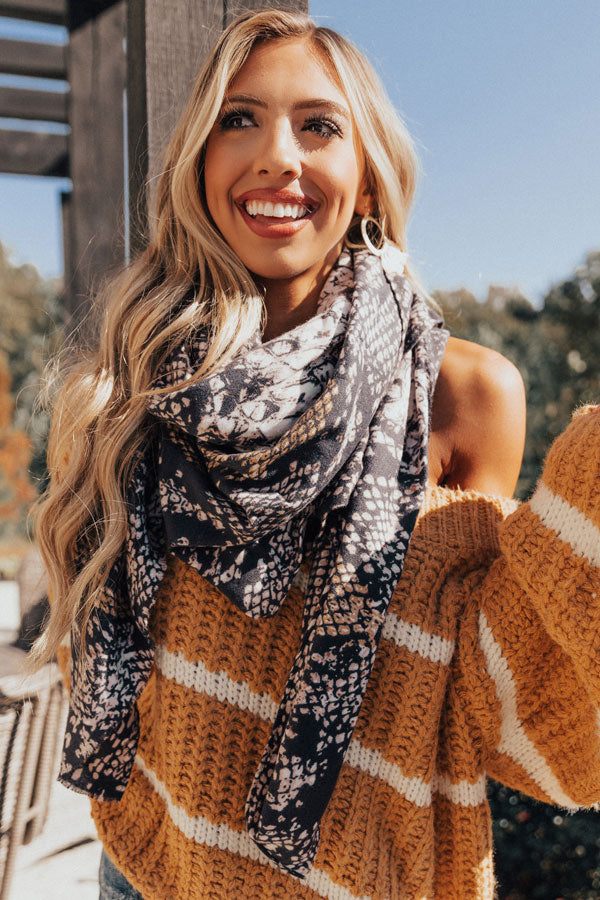 Stay Fabulous Snake Print Blanket Scarf