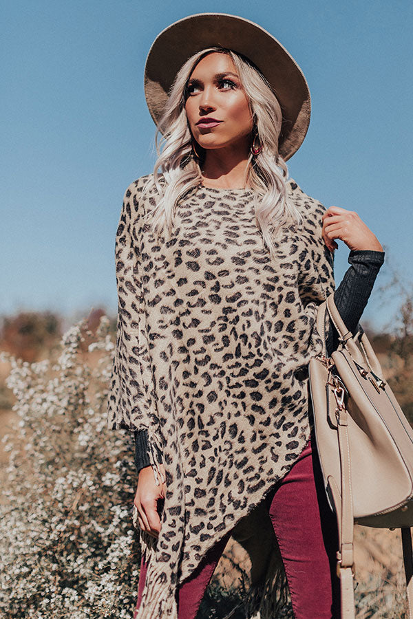 The Finer Things Leopard Poncho