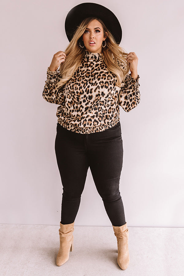 Popping Prosecco Leopard Top