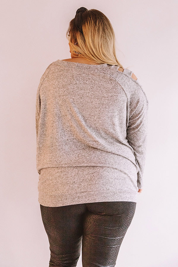 Free And Fearless Shift Sweater In Grey