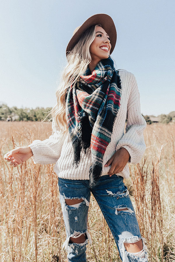 Chilly Situation Plaid Blanket Scarf