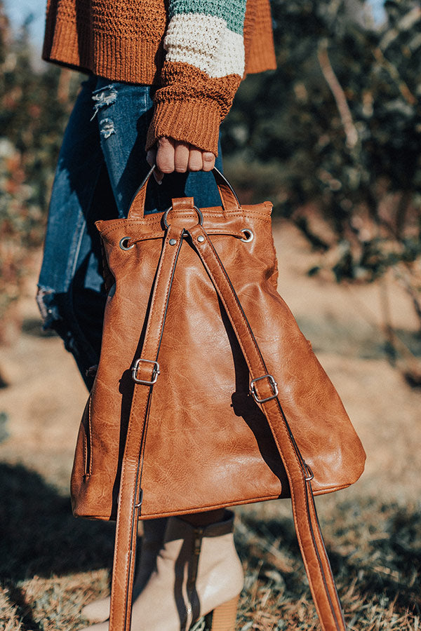 Gotta Jet Faux Leather Backpack