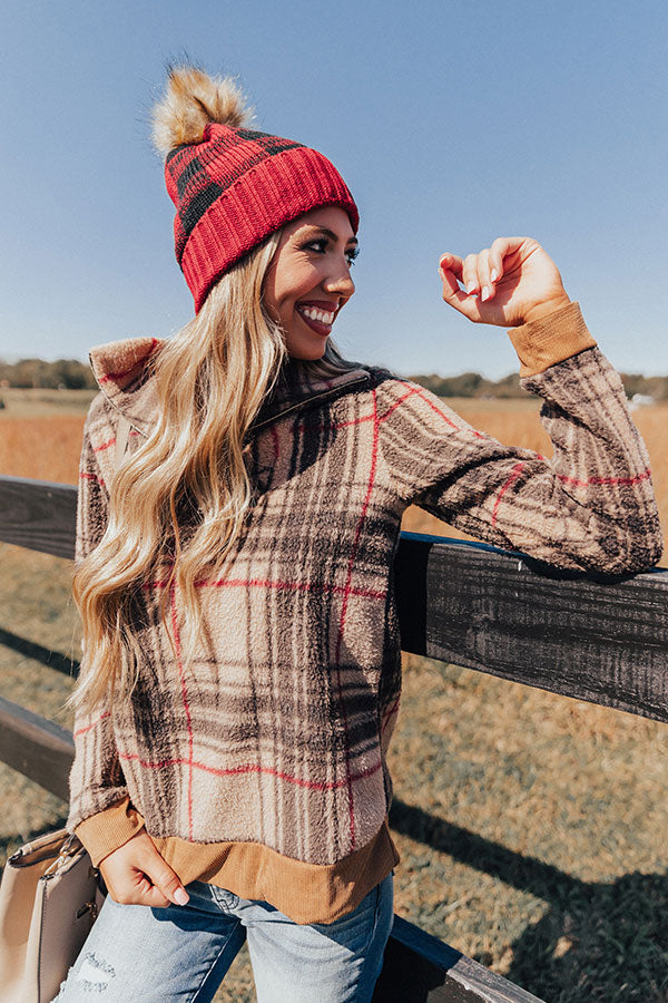 Classic Style Plaid Pullover