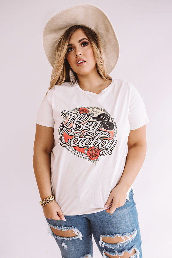Hey Cowboy Shift Tee