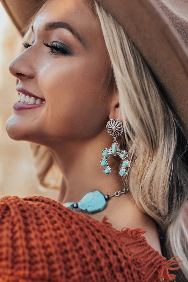 Sipping Martinis Turquoise Earrings