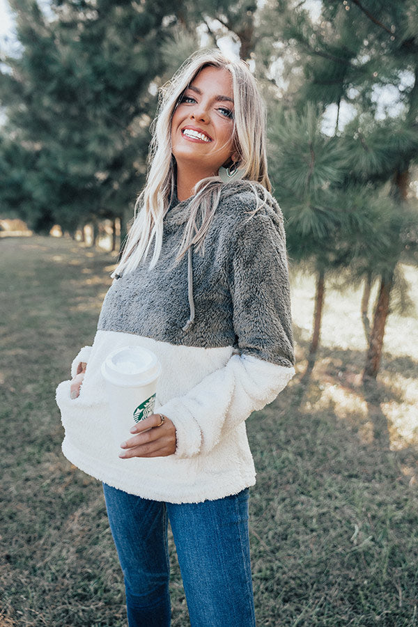 Cute And Cuddly Hoodie In Olive