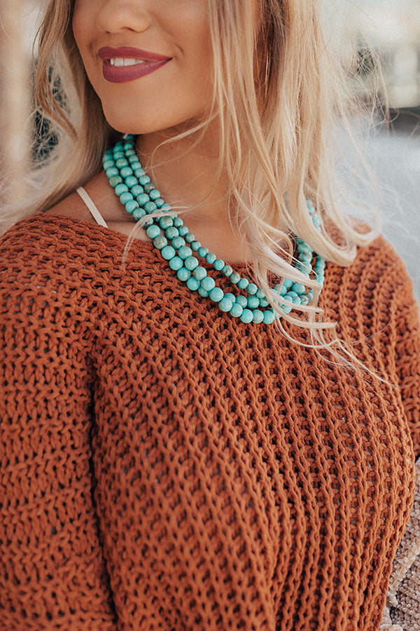 Chic Delights Turquoise Necklace