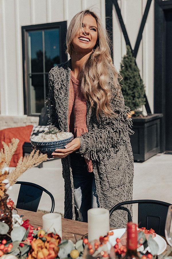 Cute On Repeat Knit Cardigan in Sage