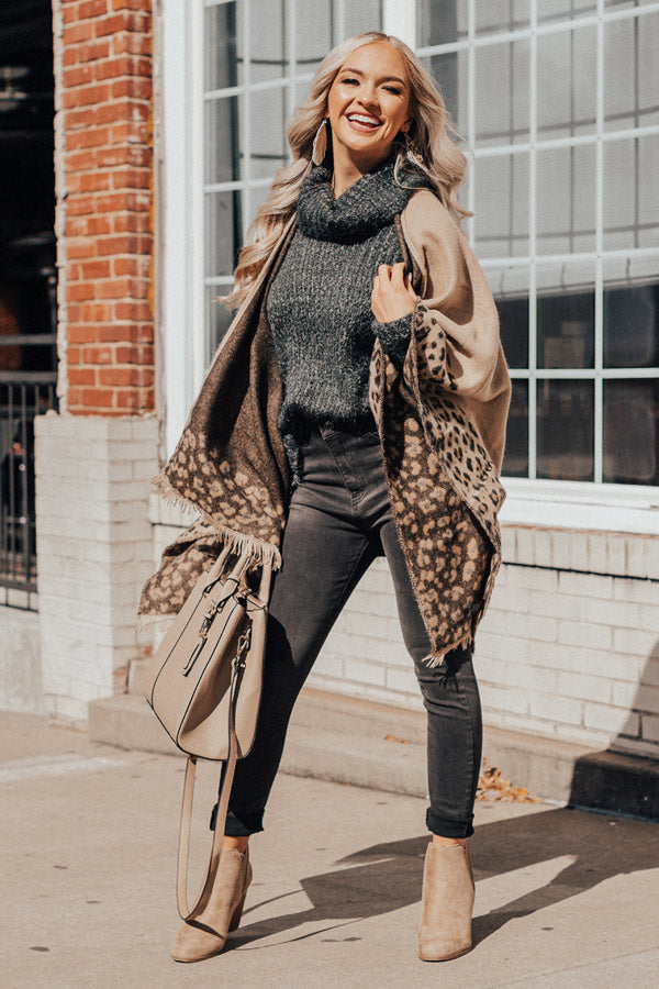 Warmest Welcome Leopard Poncho