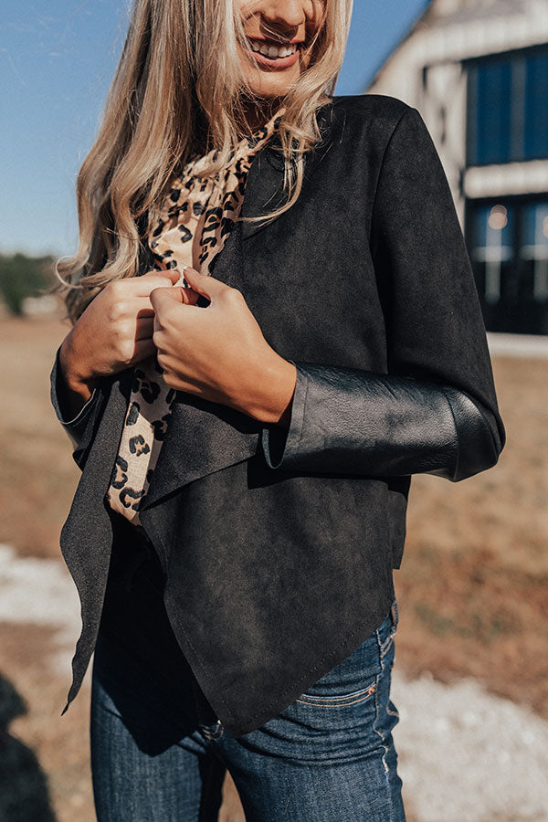 Seriously Sleek Faux Suede Blazer