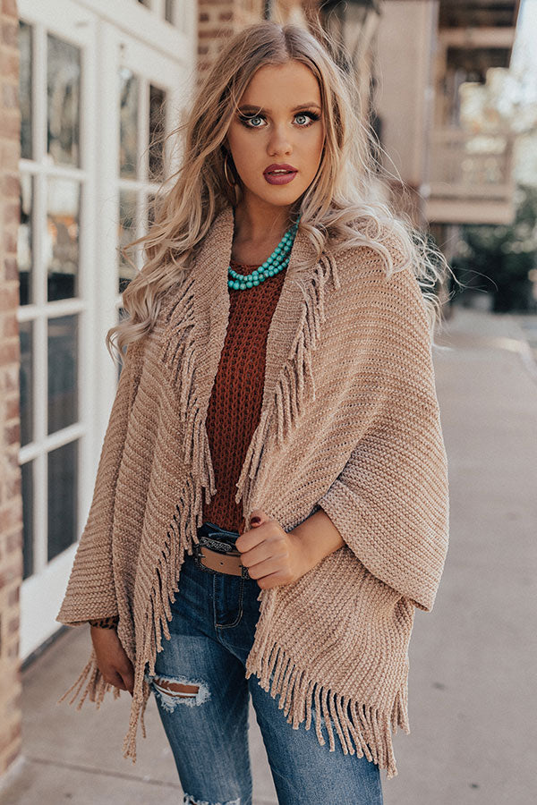 Too Cool Chenille Fringe Cardigan