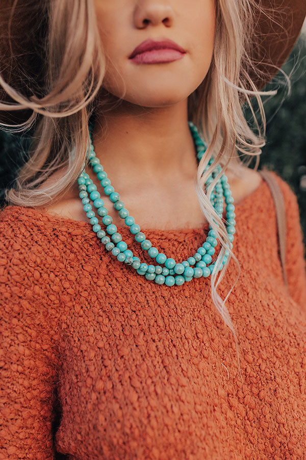 Happiness Beyond Measure Turquoise Necklace