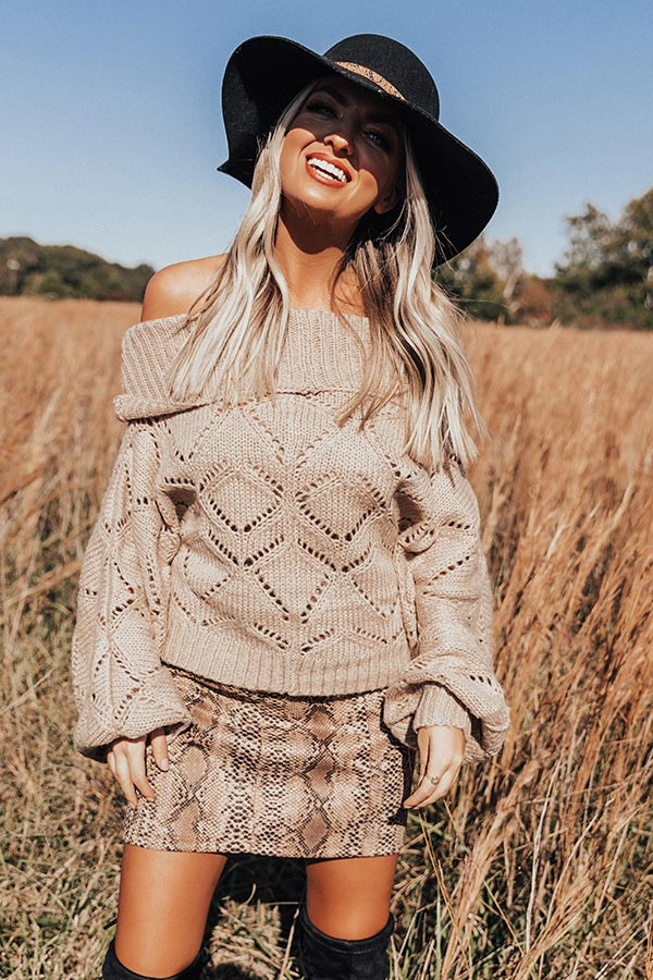 Lounging in London Knit Sweater in Birch