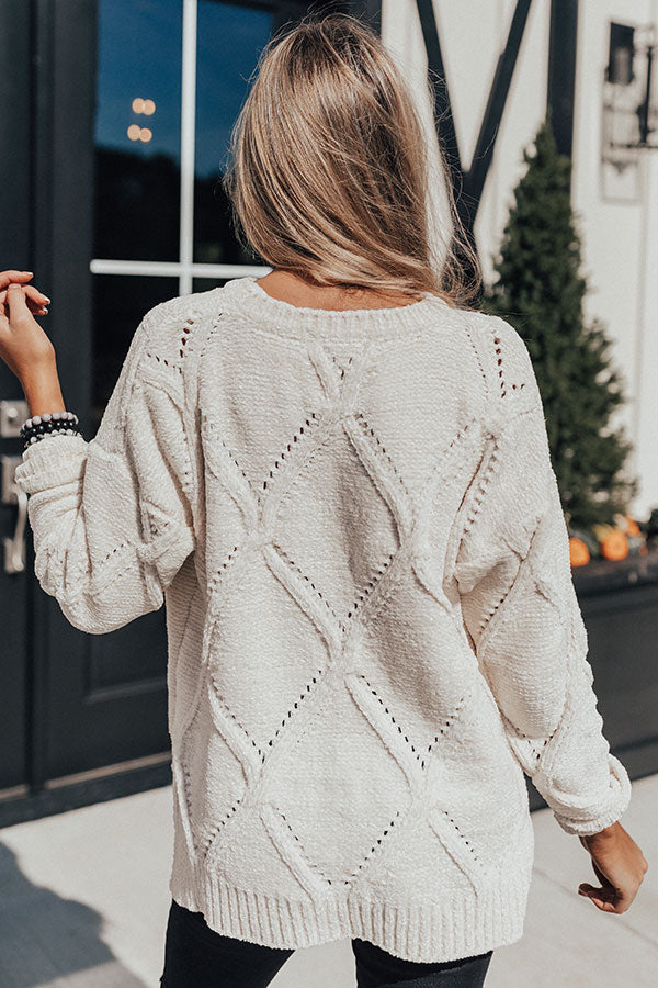 Bound For Snow Chenille Sweater