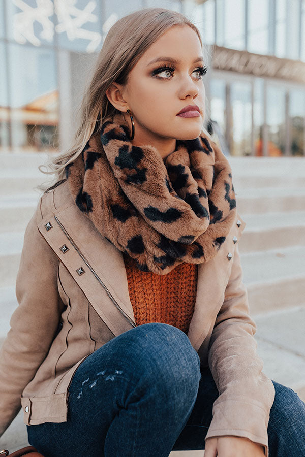 Style Fusion Leopard Plush Infinity Scarf