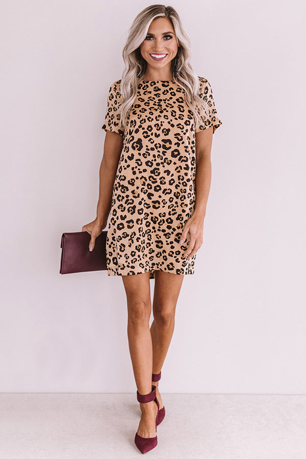 Style Influencer Leopard Shift Dress