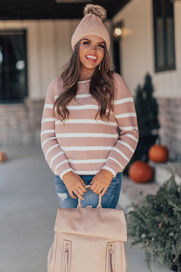 Carefree Cuddles Stripe Shift Sweater