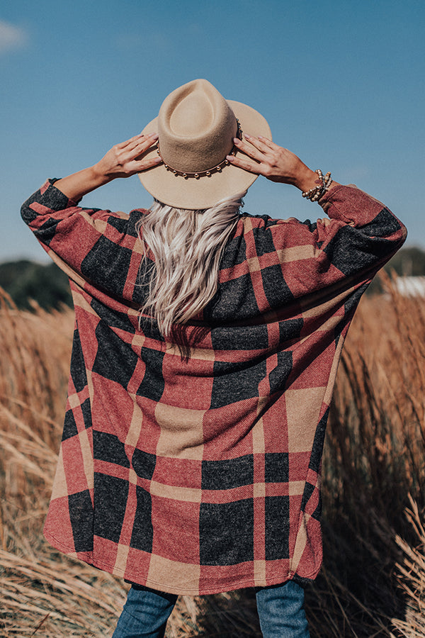 Pure Sweetness Plaid Cardigan